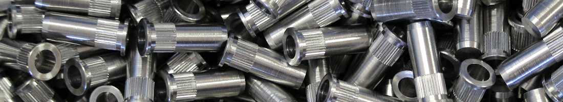 Knurled blind steel rivet