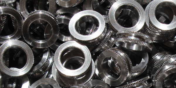 knurled ring machining