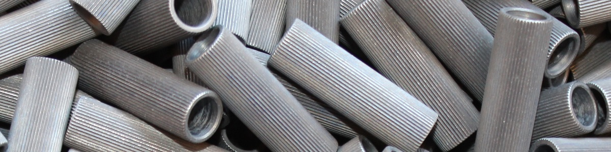 right knurled spacer machining