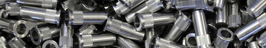 Rivet moleté acier borgne